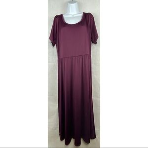 Lularoe purple Riley midi dress women's 3X NWT